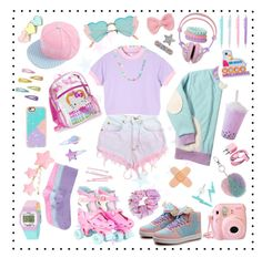 Designer Clothes, Shoes & Bags for Women Pastel Goth Outfits, Pastel Goth Fashion, Pastel Outfit, Kawaii Fashion, Lolita Fashion, Cute Fashion, Fashion Styles, Cute Girl Outfits, Cute Outfits For Kids