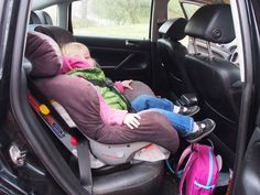Switching the Car Seat Between Big, Gnarly Work Trucks #spon