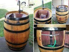 Outdoor barrel sink