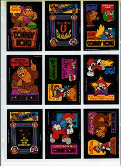 donkey kong cards Donkey Donkey, Donkey Kong, Video Game Art, Video Games, Diy E Liquid, Album Book, Cool Stickers, The Good Old Days, Super Mario