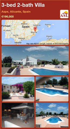 3-bed 2-bath Villa in Aspe, Alicante, Spain ►€196,000 #PropertyForSaleInSpain