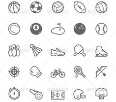 awesome 34 Cool Sport Icons Design Templates(vectors)