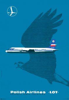 Plakat No. 4 Polskie Linie Lotnicze LOT / Polish Airlines LOT Polska Szkoła Plakatu s.c