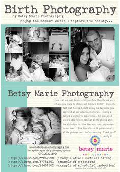 Birth Photography!  http://www.betsymariephotography.com