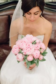 #Peony #Bouquet #Pink : See the wedding on #SMP Weddings: http://www.stylemepretty.com/destination-weddings/2013/12/11/paris-elopement/  French Grey Photography  Photography: French Grey Photography - frenchgreyphotography.com