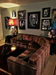 The walls and the type of couch - not really the leopard print but the couch!!!