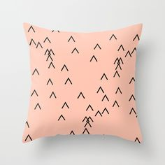 PEACH PATTERN Throw Pillow by RK design