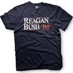 Ronald Reagan & George Bush 1984 Republican National Convention RNC Funny TShirt on Etsy, $12.00