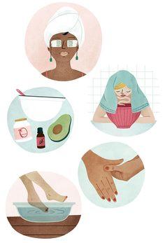 book page art Beauty Illustration, Cute Illustration, Digital Illustration, Instagram Logo, Diy Spa, Aesthetic Wallpapers, Art Inspo, Illustrators, Graphic Art