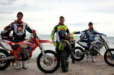Enduro Riders Beach Photo