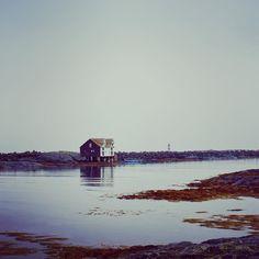 "Kewtie Bird on Instagram: ""Seaside hytte and a striped lighthouse on a dark, grey day .  #beachhouse #smøla #strand #seagrass #strandhus #island #seaweed #seaview…"""