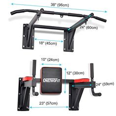 OneTwoFit Multifunctional Wall Mounted Pull Up Bar Power Tower Set Chin Up Station Home Gym Workout Strength Training Equipment Fitness Dip Stand Supports to 330 Lbs 3 Home Made Gym, Diy Home Gym, Gym Room At Home, Workout Room Home, Workout Rooms, Home Gyms, Home Gym Garage, Basement Gym, Diy Gym Equipment