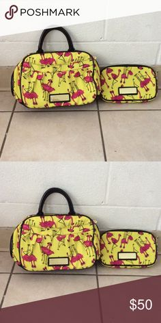 Betsey Johnson Small satchel bag and wallet It has a very light stains and scratches, still in very good condition Betsey Johnson Bags Satchels