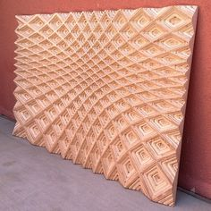 Using the precise cutting head of a CNC machine, artist Michael Anderson carves incredibly beautiful geometric patterns and textures into pieces of plywood Plywood Art, Plywood Furniture, Furniture Design, Cnc Woodworking, Woodworking Projects, Used Cnc Machines, Digital Fabrication, Cnc Projects, Wood Paneling