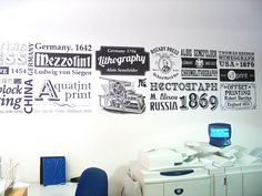 graphic wall office design - Google Search