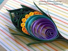 quilled peacock feather