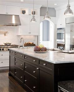 Fresh Dark Cabinets White Countertops