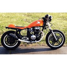 1982 Honda CB450SC Nighthawk Cafe Racer Custom Made Fiberglass Seat And Leather Pan