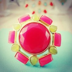 Image of Pretty Pink Statement Ring $15.00 www.clover-boutique.com