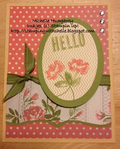 Oh Hello, Tea for Two by stampingshelle - Cards and Paper Crafts at Splitcoaststampers