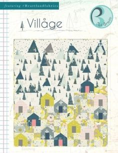 Village Free Quilt Pattern by Pat Bravo Map Quilt, Tree Quilt, Patch Quilt, Quilt Top, Easy Quilts, Mini Quilts, Strip Quilts, Scrappy Quilts, Sewing Art