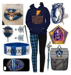 """""""Ravenclaw"""" by the-uninportant-emo ❤ liked on Polyvore featuring ravenclaw"""