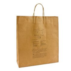 Mince Pies BROWN Christmas Paper Carrier Bag Large - £0.75 : GiftBagShop.co.uk