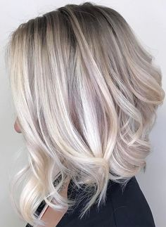 Unique balayage ombre hair colors with beautiful shadow roots in 2017-2018.