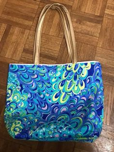 Lily Girl Feb. 2018 who sewed her own matching tote bag.  So cute. Love the gold straps.