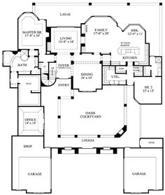 Rear Courtyard House Plans | ... Luxury, European, Mediterranean, Southwest House Plans & Home Designs