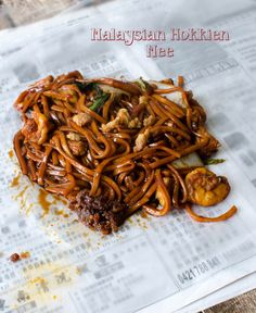 Recently, I have been punishing myself with day dreams of Malaysian delicacies that I am missing so terribly - like the sinfully tasty black KL style Hokkien Mee. Each time I go back to Malaysia, . Asian Noodle Recipes, Indian Food Recipes, Asian Recipes, Ethnic Recipes, Chinese Recipes, Indian Foods, Healthy Soup Recipes, Pork Recipes, Cooking Recipes