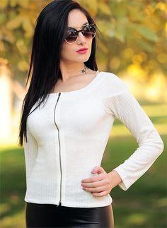 Bayan Ceket Fermuarlı Beyaz | Modelleri ve Uygun Fiyat Avantajıyla | Modabenle