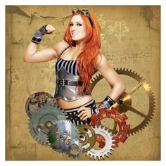 """""""becky lynch icon"""" by hitthisfeeling ❤ liked on Polyvore featuring art, icon, WWE and beckylynch"""