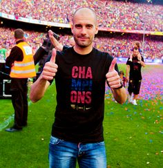 Pep and the black Champions Tee