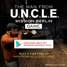 Get your alias ready. Play #ManFromUNCLE's Mission: Berlin game for free on Android and at ManFromUncleGame.com. | The Man from U.N.C.L.E.