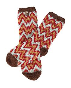 Brown Zebra Small World/'s Softest Socks Novelty Slipper Cozy Collection