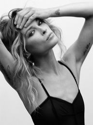Erin Wasson. Tattoo placement