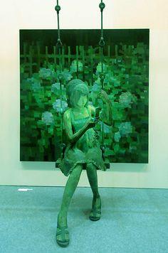 「ホタル」/ ''Firefly'', panting, polystyrene based sculpture by Shintaro Ohata Spectacular pieces! Sculpture Painting, 3d Painting, Art Sculptures, Photo Sculpture, Chef D Oeuvre, Oeuvre D'art, Art Environnemental, Modern Art, Contemporary Art