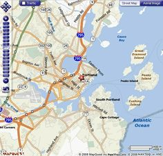 map of Portland, Maine