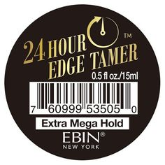 Ebin New York 24 Hour Edge Tamer - Extra Mega Hold 0.5 oz $1.79   Visit www.BarberSalon.com One stop shopping for Professional Barber Supplies, Salon Supplies, Hair & Wigs, Professional Product. GUARANTEE LOW PRICES!!! #barbersupply #barbersupplies #salonsupply #salonsupplies #beautysupply #beautysupplies #barber #salon #hair #wig #deals #sales #ebin #newyork #24hour #edgetamer #extramegahold