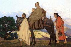 Famille kabyle en déplacement von Yvonne Kleiss-Herzig