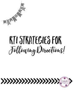 RTI Strategies for F