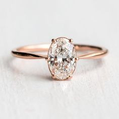You asked and we listened! One of our most requested pieces was just added to melaniecasey.com! Oval diamond Wishing Well ring in 14k rose gold with a 1ct VVS1/F focal and the most delicate and simple cinched ring band