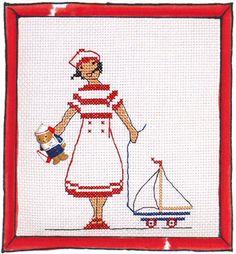 Rue du Port - Broderie à points comptés - Broderie - Ours marin fille