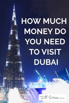 How expensive is Dubai: from taxi rides, dinner at a restaurant to day trips and excursions - this complete guide will give you a good idea of how much money you will need for your visit to Dubai