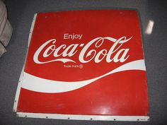 METAL COKE SIGN Coca Cola made of metal 37 by FindsandFurnishings, $200.00