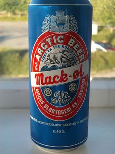 Mack's Arctic Beer is the first beer to reach the North Pole on a surface expedition. Pure malt beer brewed and canned in Arctic Norway.
