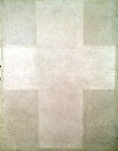 Kasimir Malevich: White Suprematist Cross, 1920.