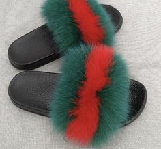 01902ba070af Luxury comfy fuzzy fluffy fur slides slippers Fluffy Sliders