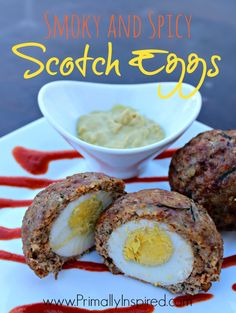 Smoky and Spicy Scotch Eggs from Primally Inspired #paleo #glutenfree